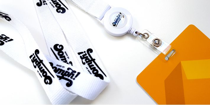 Personalised lanyards and event badges