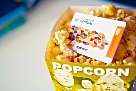 Picturehouse Central Plastic Membership Card in a popcorn tub Made by Oomph