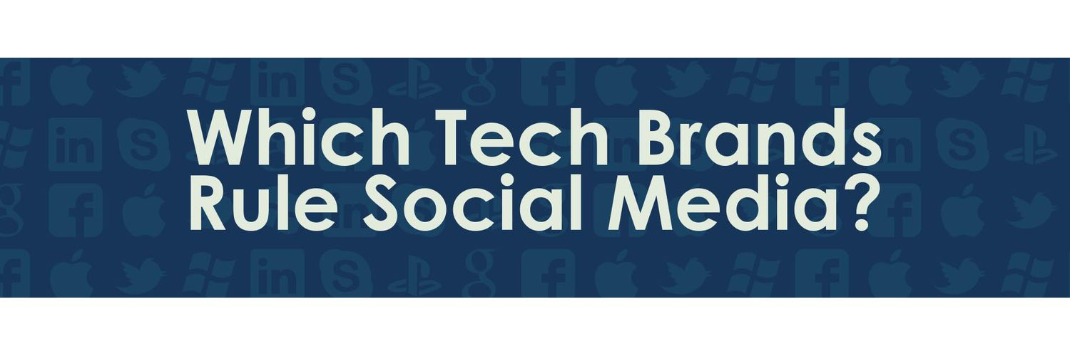 Oomph infographic on tech brands in social media