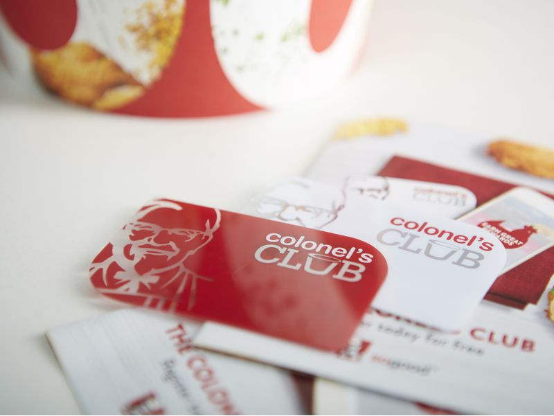 KFC Loyalty Cards Printing | Oomph Plastic Card Services