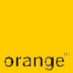 Orange logo Plastic Cards Printing