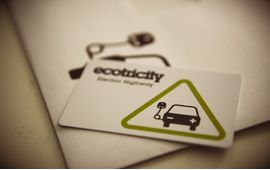 Ecotricity printed RFID smart card with envelope made by oomph