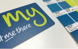 Get me there rfid smart card pantone matched from made by oomph