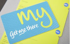 Get me there rfid smart PVC ticket from made by oomph