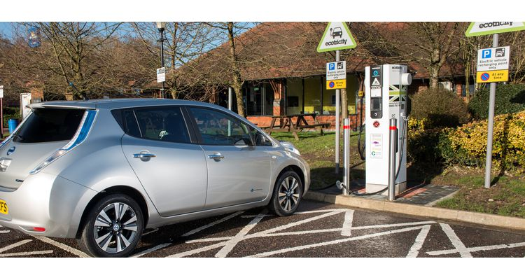 ecotricity car chargepoint at motorway services made by oomph