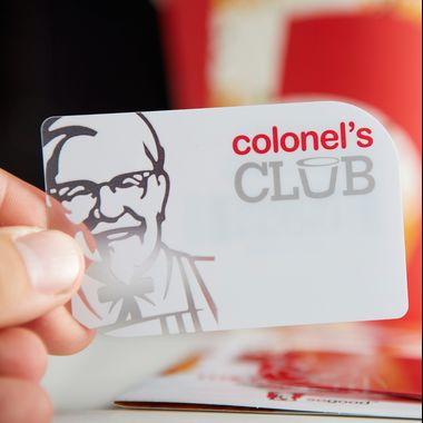KFC PVC Promotional Card