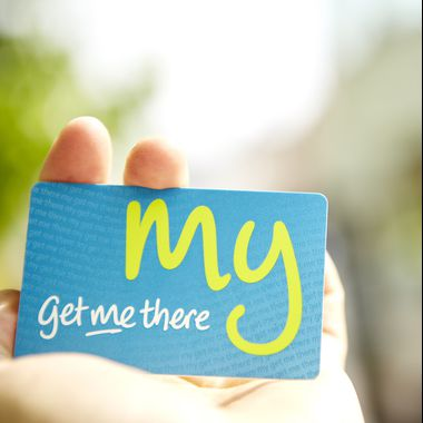 Smart NFC ticket PVC card for Get me there