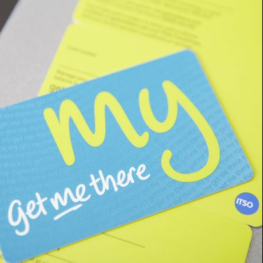 NFC and RFID Smart plastic card for Get Me There