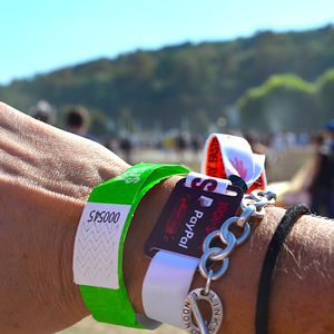 RFID wristbands printed for cashless events and festivals