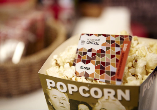Phoenix Cinema membership cards and popcorn